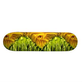 Sunflower Whirl Drip Skate Deck