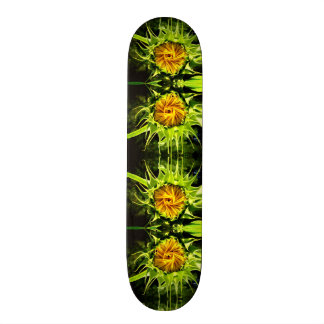 Sunflower whirl skateboard deck