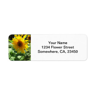 Sunflower with Bees Return Address Label