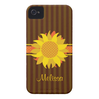 Sunflower with Name Case-Mate Case Case-Mate iPhone 4 Case