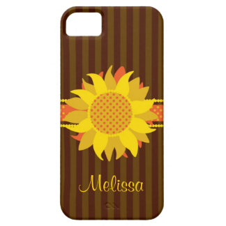 Sunflower with Name Case-Mate Case iPhone 5 Covers