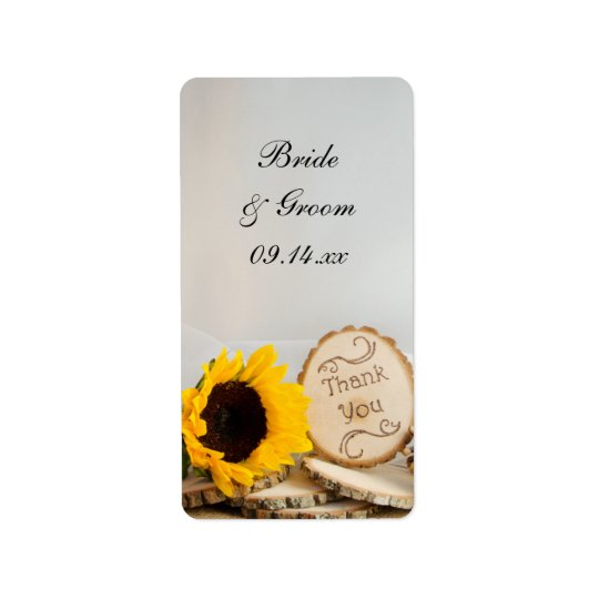 Sunflower Woodland Wedding Thank You Favour Tags
