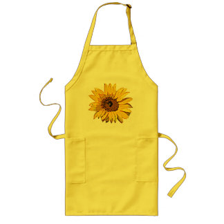 Sunflower Yellow Long Apron