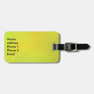 Sunflower yellow luggage tag