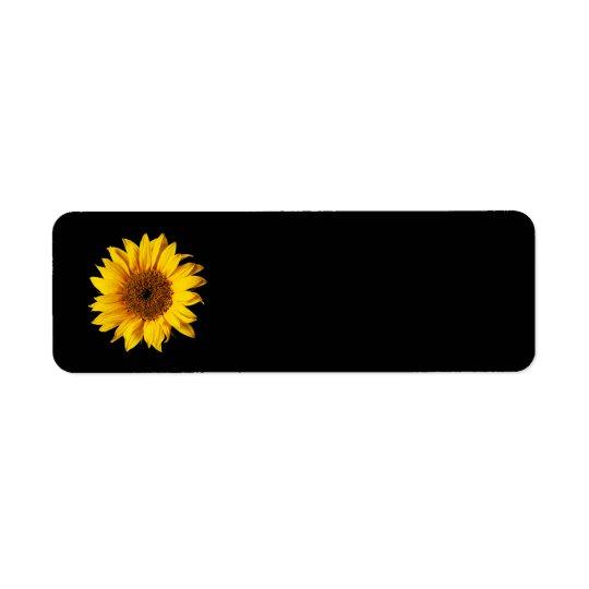 Sunflower Yellow on Black - Customized Sun Flowers