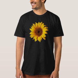 Sunflower Yellow on Black - Customized Sun Flowers T-Shirt