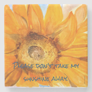 Sunflower You Are My Sunshine Coaster 2of4