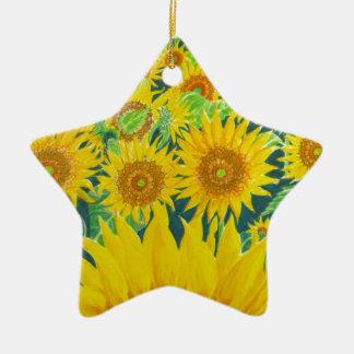 Sunflowers1 Ceramic Ornament