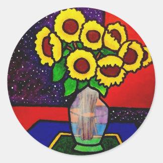Sunflowers 10-4 by Piliero Classic Round Sticker