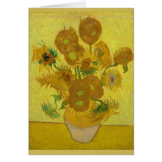 Sunflowers 1889 Vincent Van Gogh Card
