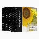Sunflowers 3 Ring Binder