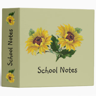 Sunflowers 3 Ring Binders