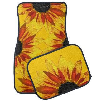 Sunflowers Abstract Floor Mat