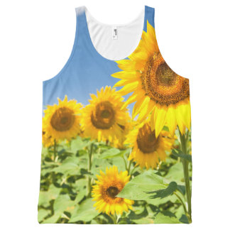 Sunflowers All-Over Printed Panel T-Shirt
