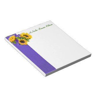 Sunflowers and Blue Statice Notepad