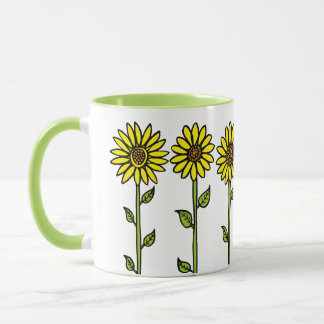Sunflowers and Bumble Bee Mug