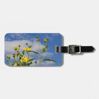 Sunflowers and Cornfield in Iowa Photo Luggage Tag