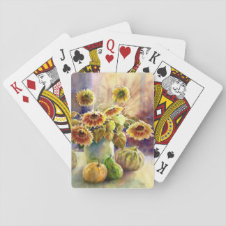Sunflowers and Gourds Playing Cards