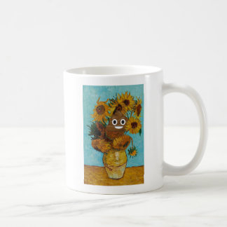 Sunflowers and Happy Poop Coffee Mug
