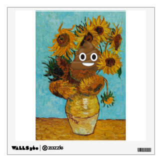 Sunflowers and Happy Poop Wall Sticker