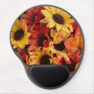 Sunflowers and leaves mousepad. gel mouse pad