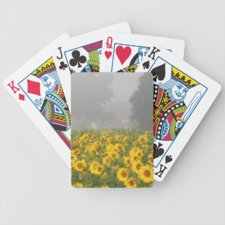 Sunflowers and Mist Bicycle Playing Cards