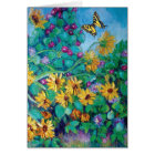 Sunflowers and Morning Glories Card
