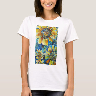 Sunflowers and Polk-a-Dots t-shirts