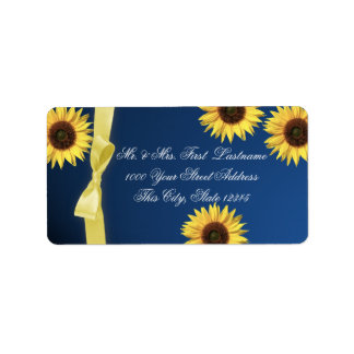 Sunflowers and Ribbon Label