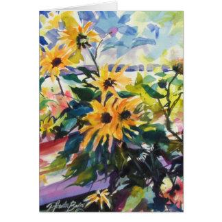 """Sunflowers and Shadows"" Card"