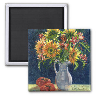 """Sunflowers and Tomatoes"" Magnet"
