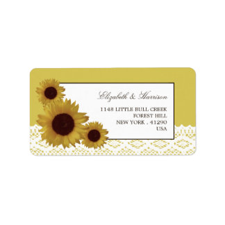 Sunflowers and Vintage Lace Wedding