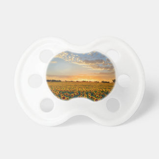 Sunflowers at Sunset Baby Pacifier