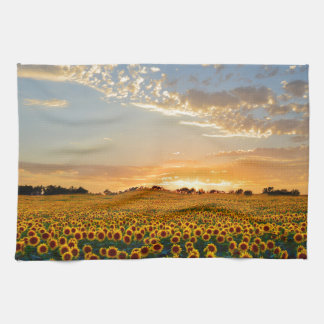 Sunflowers at Sunset Hand Towels