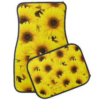 Sunflowers background car liners