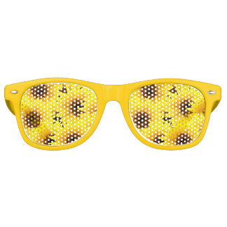 Sunflowers background retro sunglasses