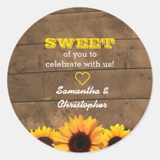 Sunflowers & Barnwood Gold Sweet Treat Bag Sticker