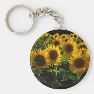 sunflowers basic round button keychain