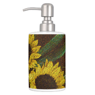 Sunflowers Bath Accessory Set