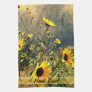 Sunflowers Before The Storm Clouds Kitchen Towel