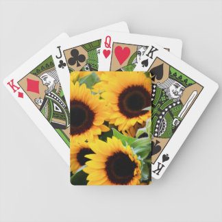 Sunflowers Bicycle Playing Cards