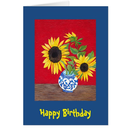 Sunflowers Birthday Card to customize