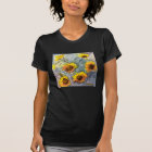 Sunflowers Black Tee