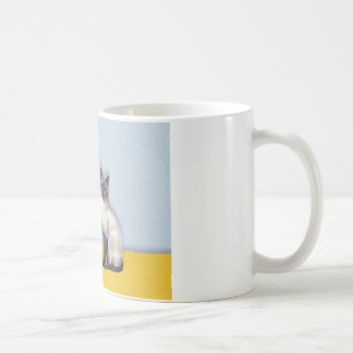 Sunflowers - Blue Point Siamese Classic White Coffee Mug