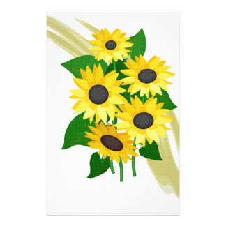 Sunflowers Bouquet Stationery