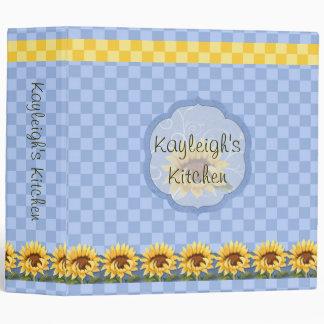 Sunflowers Bright Personalized Kitchen Vinyl Binder