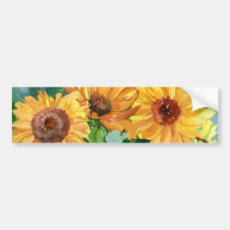 Sunflowers Bumper Stickers