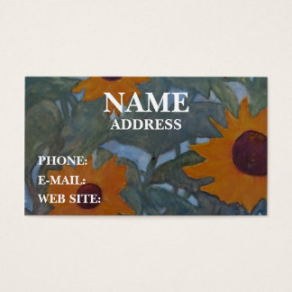Sunflowers - Business Card