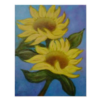 Sunflowers by Laurie Mitchell Print