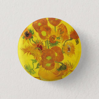 Sunflowers by Vincent van Gogh 1 Inch Round Button